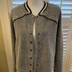 """Dahlia """"varsity"""" jacket."""